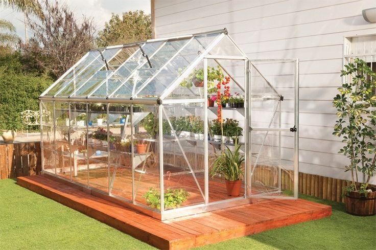 serre de jardin polycarbonate gaya argent 6x12 - CHALET & JARDIN - Serre de jardin - Serre de jardin - Equipement Jardin