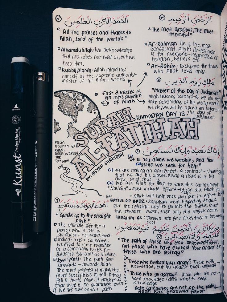 a i s y a h . — RAMADAN DAY 13 (BACKLOG): SURAH AL-FATIHAH To me,...