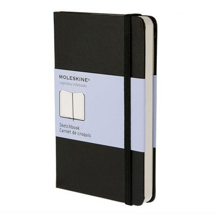 The Moleskine Large Sketchbook is made with top quality heavy paper and is perfect for on the go drawings, sketches and tempera colours. Every Moleskine product is thread bound and has a cardboard bou