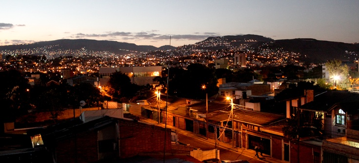 """View of Tegucigalpa from the roof of the Humuya Inn.  """"You're the God of this City"""" -- hear that beautiful song in my head when I see this view."""