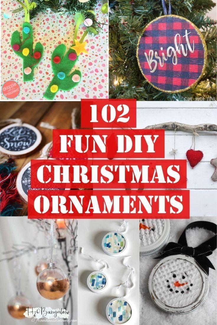 102 Handmade Christmas Tree Ornament Ideas Handmade Christmas Tree Christmas Projects Diy Diy Christmas Ornaments
