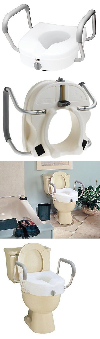 Toilet Seats: Carex E-Z Lock Raised Toilet Seat With Arms BUY IT NOW ONLY: $54.08