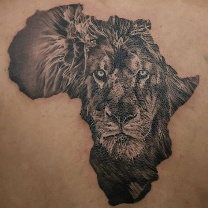 africa lion tattoo - Google Search