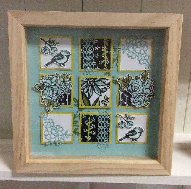 KraftingK, spring frame using stampin up Petal Palette