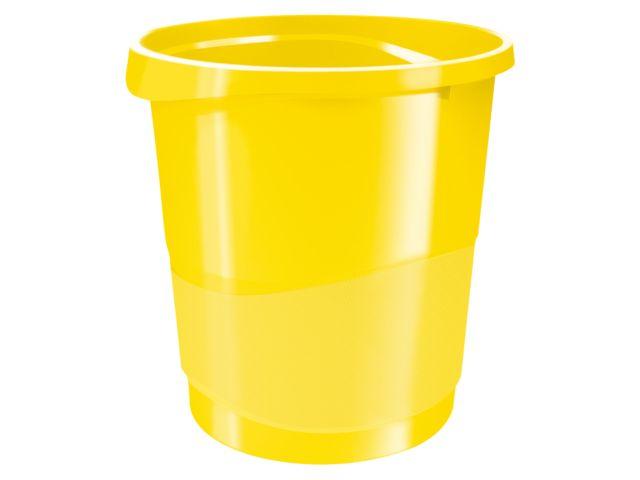 Papierbak Vivida 14 liter in geel via DKVH