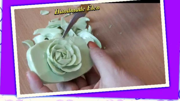 how to make soap carving flower