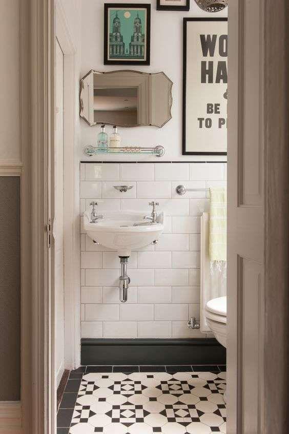 Lavandino per il bagno in stile liberty - Come arredare un bagno in stile liberty di piccole dimensioni.