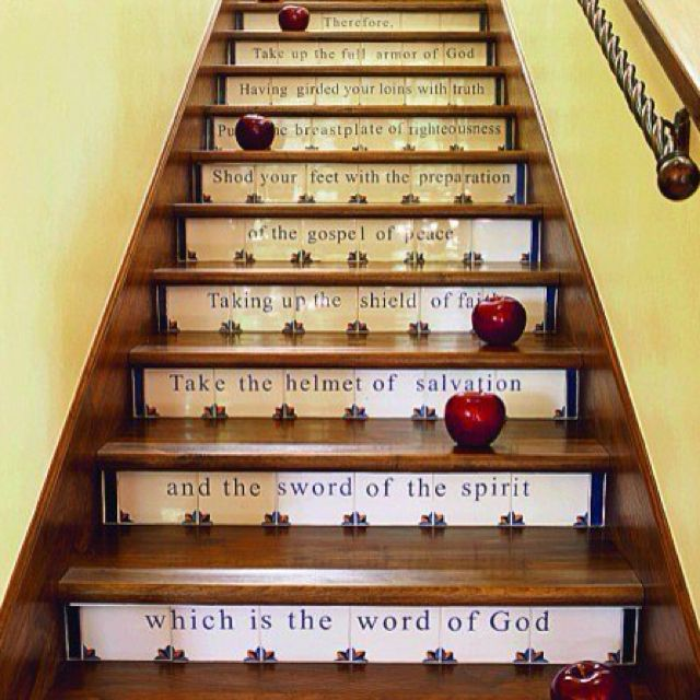 Armor of God steps... dressing for battle as you climb