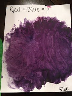 Preschool Color Mixing Idea