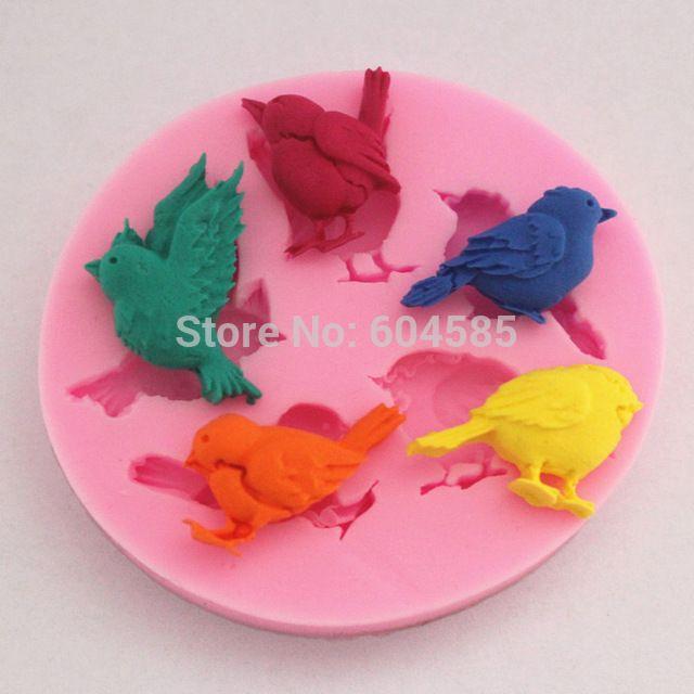 Vogels siliconen fondant taart mallen zeep chocolade mal voor de keuken bakken Sugarcraft FM065