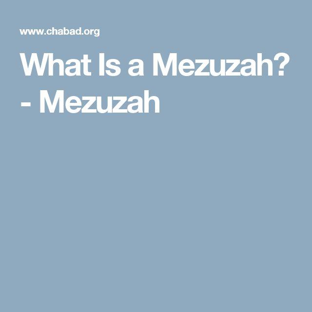 What Is a Mezuzah? - Mezuzah