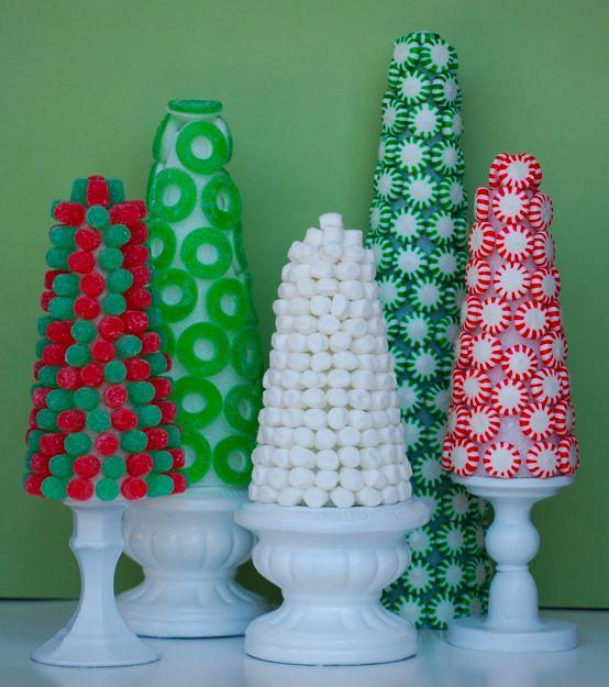 la decoración de mis mesas: Ideas para Navidad: Arbol de caramelos