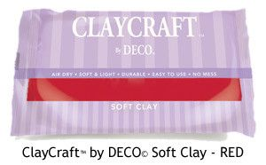 Red - CLAYCRAFT™ by DECO© Soft Clay