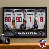Personalized Houston Texans NFL Locker Room Canvas Print
