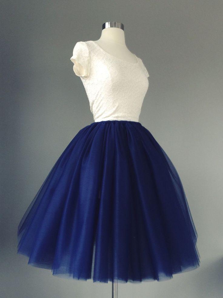 Navy Tulle Skirt - Adult Bachelorette Tutu- navy adult tutu, navy adult tulle skirt by shopVmarie on Etsy https://www.etsy.com/listing/226228762/navy-tulle-skirt-adult-bachelorette-tutu