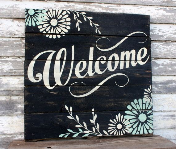 Hand Painted Repurposed Pallet Sign by soulshineliving on Etsy, $75.00…