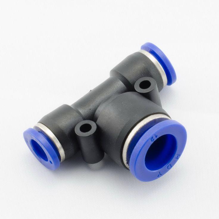 Blue plastic pneumatic fittingsconnectorstee reducer