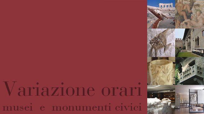 Variazione orari musei e monumenti