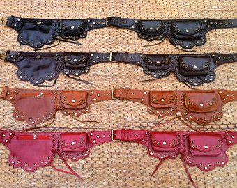 Leather Utility Belt Bag / Fanny Pack The by ThaiArtistCollective