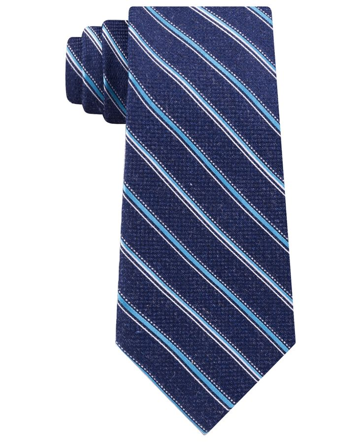 Men's Satin Asymmetric Weft Stripe Tie