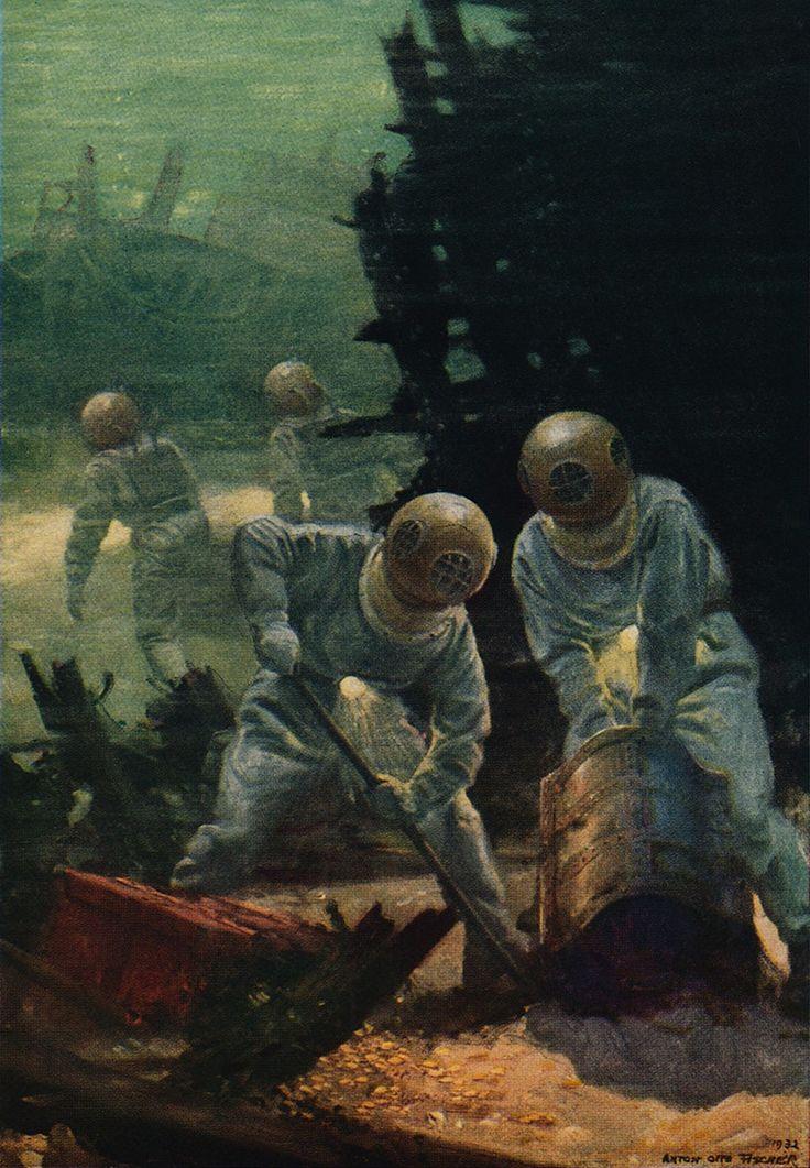 Anton Otto Fischer, Jules Verne's 20,000 Leagues Under The Sea, 1932.