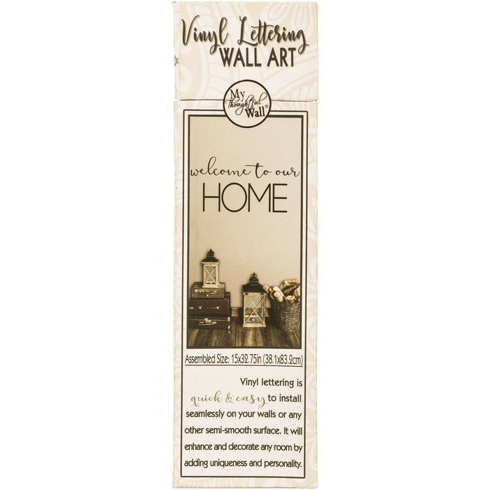 Welcome To Our Home Vinyl Wall Art Hobby Lobby 1561737 Adhesive Wall Art Vinyl Wall Art Decal Wall Art
