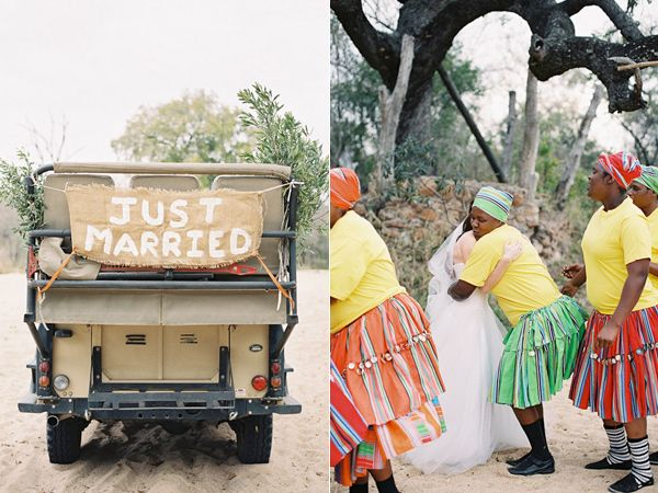 just married signs - photo by Feather and Stone http://ruffledblog.com/south-african-destination-elopement