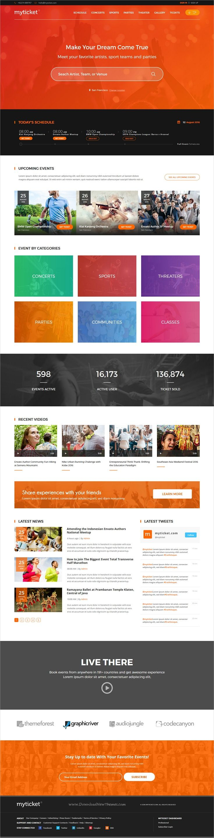 MyTicket is clean and modern design responsive #HTML5 template for #event #ticket and hall #reservation service website download now > https://themeforest.net/item/myticket-event-ticket-hall-reservation-html5-template/19779762?ref=Datasata