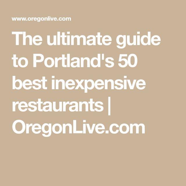 Best Inexpensive Restaurants In Downtown Portland