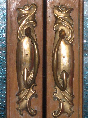 art nouveau door handles - Google Search