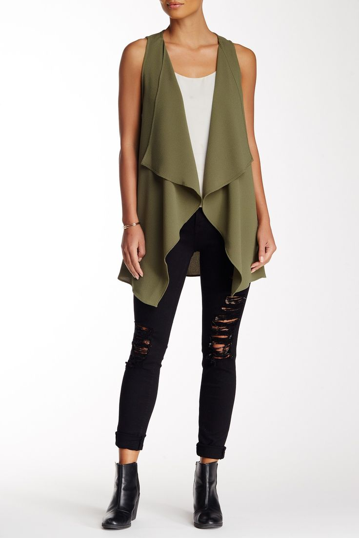Lush - Drapey Vest at Nordstrom Rack. Free Shipping on orders over $100.