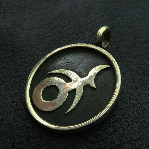 Bronze Slaanesh pendant. Warhammer 40000. W40K. Chaos Gods. Hedonism. Decadence. #Pendant