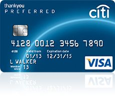 Citi ThankYou Preferred Credit Card Review - 30,000 ThankYou Point Sign Up Bonus