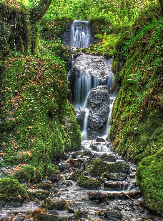 Canonteign falls in Dartmoor National Park, Devon, UK