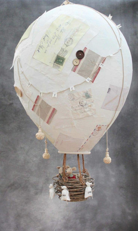 Heibluftballon Basteln Kreative Deko Und Geschenkideen Zum Nachmachen Heissluftballon Basteln Alte Briefe Diy Papier