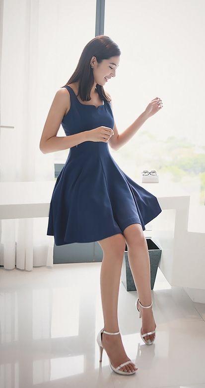 [Luxe Asian Women Dresses Fashion Style Korean Model Fashion Clothing] [D] present Dress