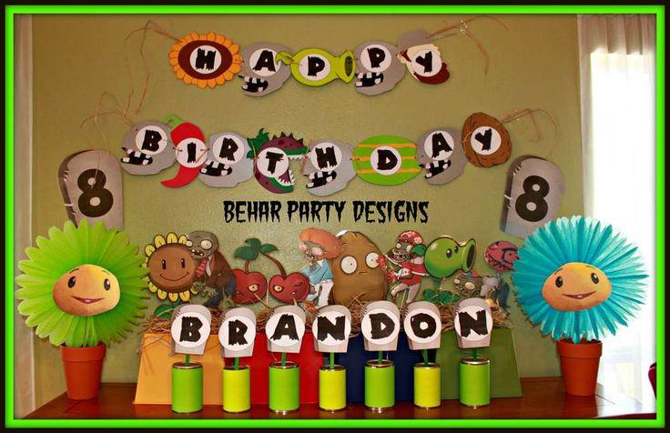 Brandon's 8th Plants vs. Zombies Birthday Party   CatchMyParty.com