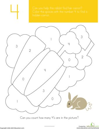 Worksheets: What's Hiding in the Numbers?: 4