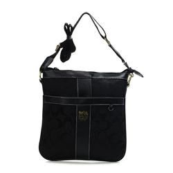 Coach Legacy Swingpack In Signature Medium Black Crossbody Bags AWO