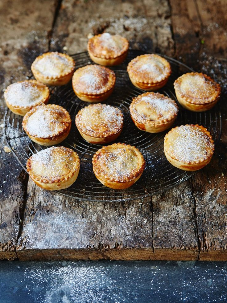 Tiny little mince pies for tiny little Mr. 'Possum! His favorite pie.