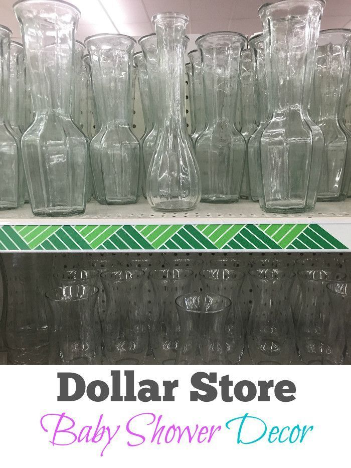 EASY DIY baby shower decorating ideas. Things you can make from the Dollar Store for your baby shower that are cheap centerpieces girl or boy.