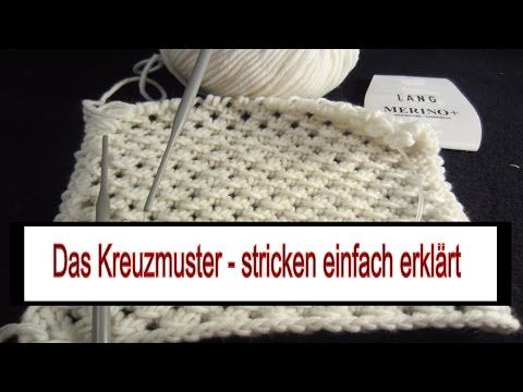"Stricken mit eliZZZa * Strickmuster ""CrissCross"" reversi mit verkreuzten Hebemaschen - YouTube"