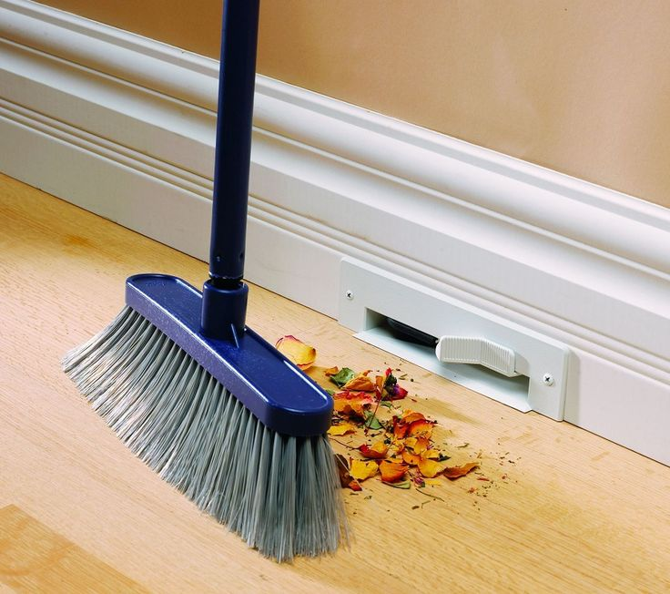 If you don't have a built-in vacuum in the form of a dog (we kid), you're going to love this wall option. Just sweep your crumbs into the crevice — no clunky dust pan necessary. See more at Built-In Vacuum »   - HouseBeautiful.com