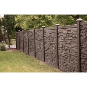 SimTek, 6 ft. x 6 ft. EcoStone Dark Brown Composite Fence Panel, FP72X72EDBR at The Home Depot - Mobile