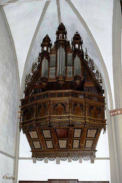 Organ Of The Marienkirche, Lemgo, Germany