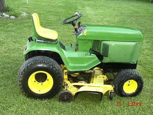 """John Deere 400 with a 60"""" deck and new engine. Ebay"""