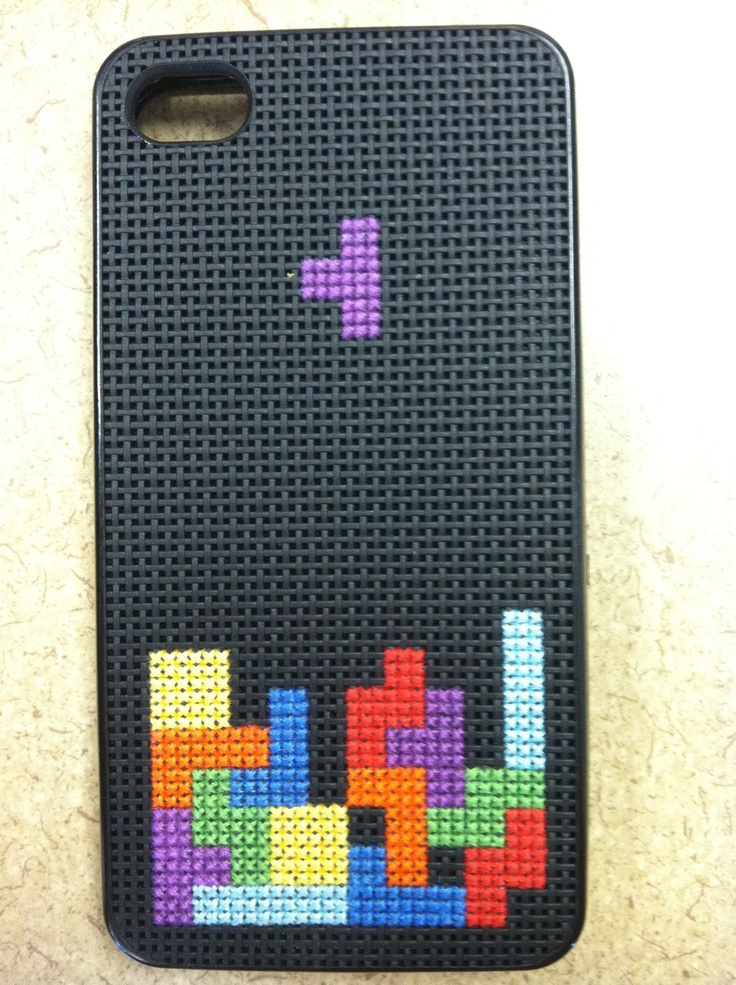 Tetris cross stitch so easy to transfer to a normal frame! So cool!