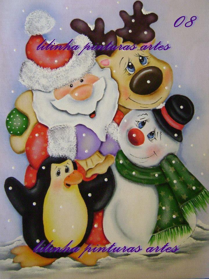 Pintura en tela navideña