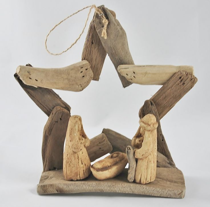 OBXstore.com - Driftwood Star Nativity Scene Ornament, $9.99 (http://www.obxstore.com/outer-banks-stores/driftwood-star-nativity-scene-ornament/)
