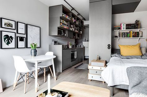 Compact Life On 30 Sqm With Images Flat Interior Design Small